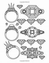 Coloring Jewelry Jewels Adult Gems Books Dani Kates Printable Emoji Totally Awesome Colouring Adults Bo sketch template