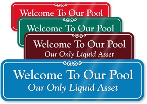 Funny Pool, Humorous Swimming Pool Signs