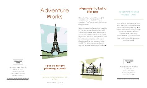 Travel Brochure Template Word by Brochures Office