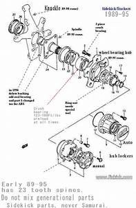 1994 Suzuki Sidekick Jlx 1 6 Automatic W-o  D Lock Out Hubs