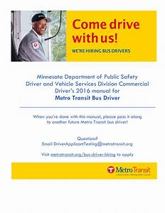 Minnesota Commercial Driver S License  Cdl  Manual