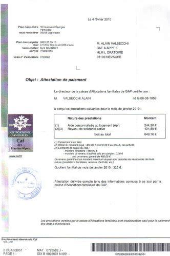 modele attestation de non paiement caf attestation de droit caf hoaxbuster v 233 rifier l