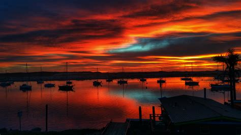 Morro Bay Harbor Sunset  Central Coast Business Photography