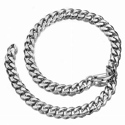 Chain Xxxtentacion Cuban Link Silver Stainless Steel