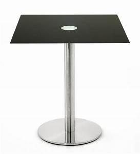 Table Basse Hauteur 60 Cm : table hauteur 65 cm en verre noir 50x50 cm tbt 50c one ~ Dailycaller-alerts.com Idées de Décoration