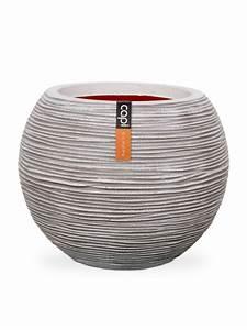 Cache Pot Pas Cher : vase boule strie 62x48 ivoire de capi europe cache et ~ Dailycaller-alerts.com Idées de Décoration