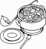 Soup Coloring Pages Bowl Drawing Tureen Yummy Vegetable Printable Sheets Pot Getdrawings Kidsdrawing Popular Vegetables Getcolorings Soups Anycoloring Coloringhome sketch template