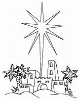 Star Coloring Printable Pages Bethlehem Christmas Shooting Bible Nativity Advent Sheets Religious Stars Colouring Scripts Outline Angel Play Colour Print sketch template