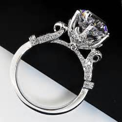 synthetic engagement rings aliexpress buy brillante 4ct sona synthetic engagement rings for genuine