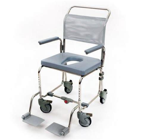 folding portable mobile transit shower chair commode ebay