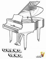 Coloring Piano Musical Yescoloring Instruments Grand Come Instrument Playful sketch template