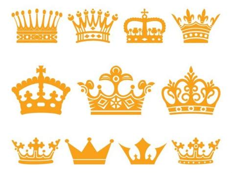 Crowns Set Vector - AI PDF - Free Graphics download