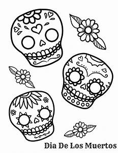Sugar Skull Coloring Pages - AZ Coloring Pages