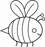 Baby Bee Bumble Honey Stencil Coloring Template Bumblebee Sweetclipart Pages sketch template