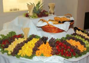 amorris reception ideas for fruit cheese buffet