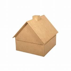 Boite En Carton À Décorer : bo te en carton maison maison pratic boutique pour vos loisirs creatifs et votre deco ~ Melissatoandfro.com Idées de Décoration