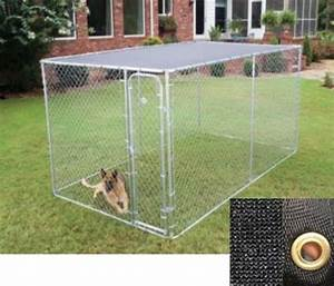 Large outdoor chain link dog kennel enclosure exercise pen for Dog run cage enclosure