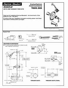 Bath  Shower Trim Kit T028 50x Manuals