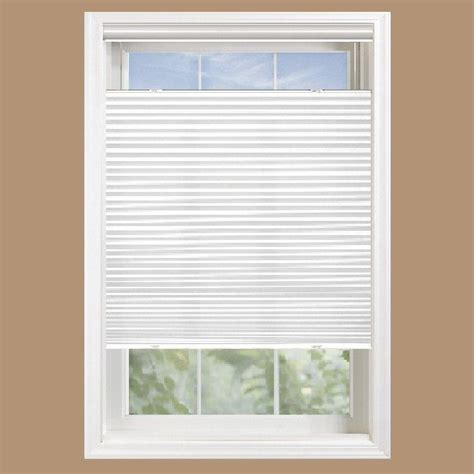 top bottom up cellular shades home depot white light filtering cordless fabric 3 8 in single cell