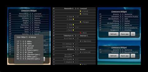 sports widgets  android  scores androidwidgetcentercom