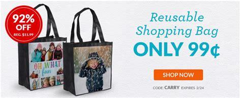 custom reusable shopping bag only 1 become a coupon