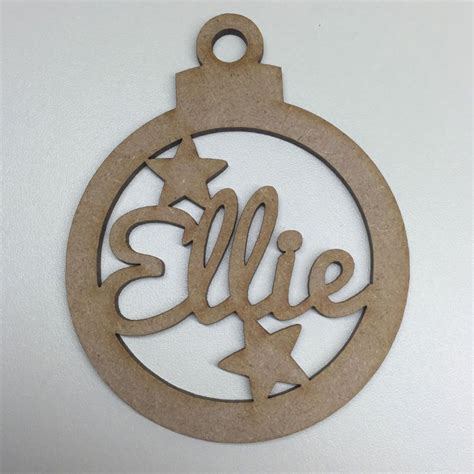 mdf laser cut christmas bauble tree decoration add