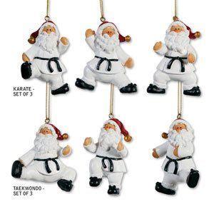 tae qan do christmas ornaments taekwondo martial arts ornament santa taekwondo martial and