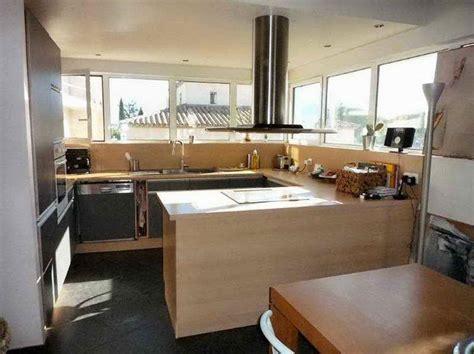 photo cuisine ouverte sur salon decoration interieur salon cuisine 2017 avec aménagement