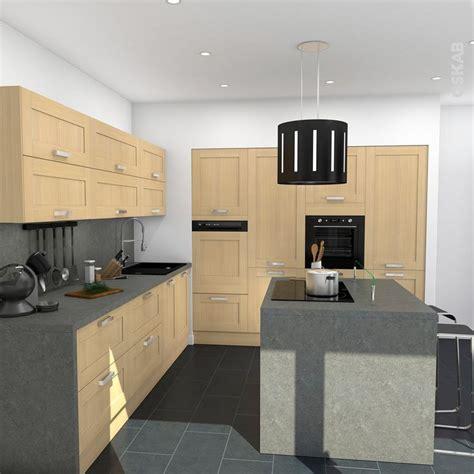 cuisine de l internaute cuisine bois verni rustique modèle basilit bois verni