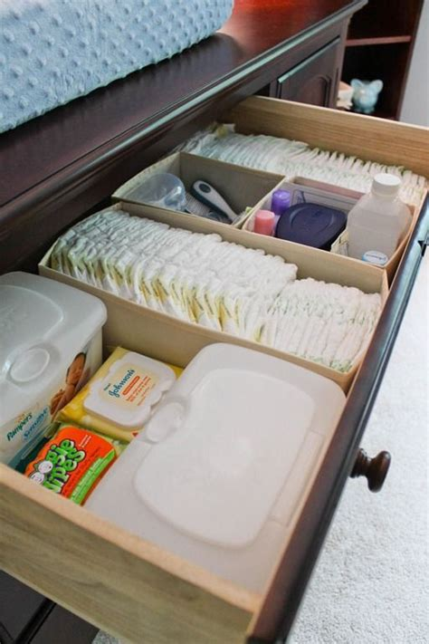 organizing baby drawers 10 diy ideas for the quot nesting quot mommy to be diaper storage top drawer and storage organization