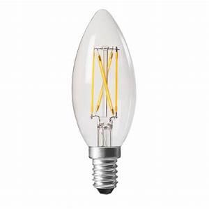 Ampoule Led Filament : ampoule led e14 4w transparent blanc chaud ~ Teatrodelosmanantiales.com Idées de Décoration
