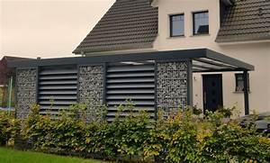 Bauantrag terrassen berdachung gabionen carport als for Carport als terrassenüberdachung