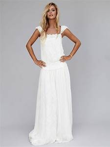 la mode des robes de france robe longue blanche boheme With robe bohème pas cher