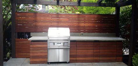 Outdoor Kitchen & Bbq Area  Batu Hardwood Contemporary