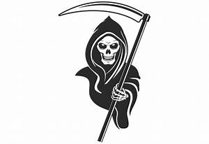 Grim Reaper Wall Decal