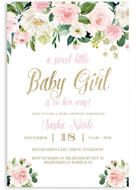 floral baby shower invitation flower baby shower invite