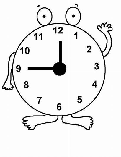 Clock Coloring Pages Daylight Savings Printable Craft