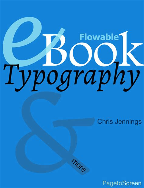 pagetoscreen ebook ebook typography for flowable ebooks