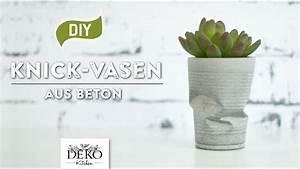 Beton Vase Selber Machen : diy coole knickvase aus beton selber machen how to deko kitchen funnycat tv ~ Markanthonyermac.com Haus und Dekorationen