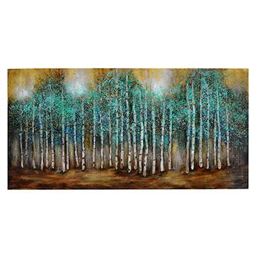 teal tree  forest horizontal painting crestview