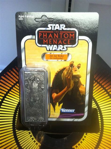 comic  behold  jar jar  carbonite action figure