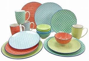 Keramik Geschirr Mediterran : geschirr set bunt kombiservice geschirrset tafelservice ~ Michelbontemps.com Haus und Dekorationen