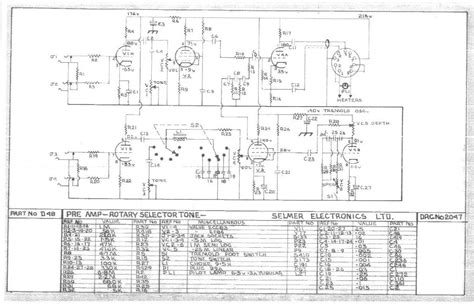 15 Schematic Wiring by Selmer Rotary Selectortone Schematic