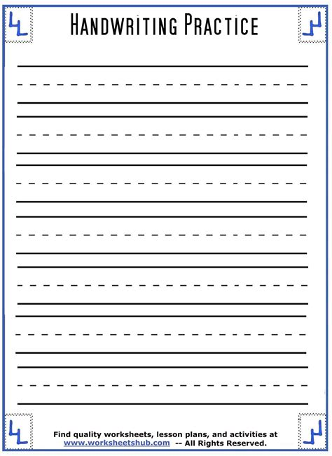 handwriting sheetsprintable  lined paper  images