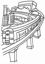 Subway Coloring Pages Metro Coloringway Boat Bridge sketch template
