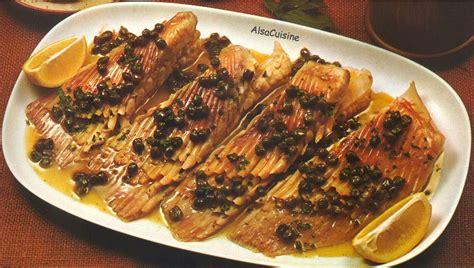 cuisine aile de raie aile de raie au beurre noir