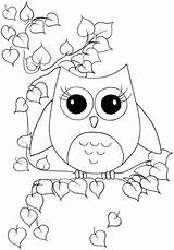 Coloring Owl Craftedhere sketch template