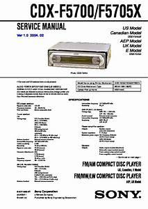 Sony Cdx-f5700  Cdx-f5705x Service Manual