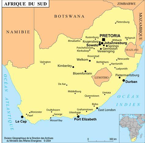 cuisine afrique du sud afrique du sud carte villes