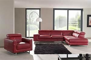 salon en cuir rouge de chez mailleux photo 12 20 avec With tapis de marche avec les plus beaux canapés